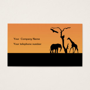 307x307 Elephant Silhouette Business Cards Amp Templates Zazzle