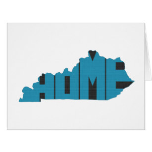 307x307 Kentucky State Silhouette Cards