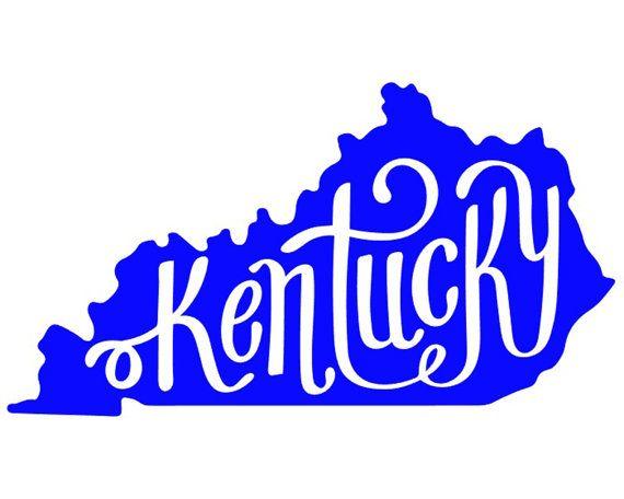 570x456 Kentucky Vinyl Decal Etsy Kentucky, Cricut