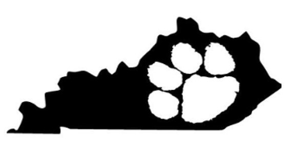 570x299 State Of Kentucky Pawprint Basketball Uk Outline Laptop Cup Decal