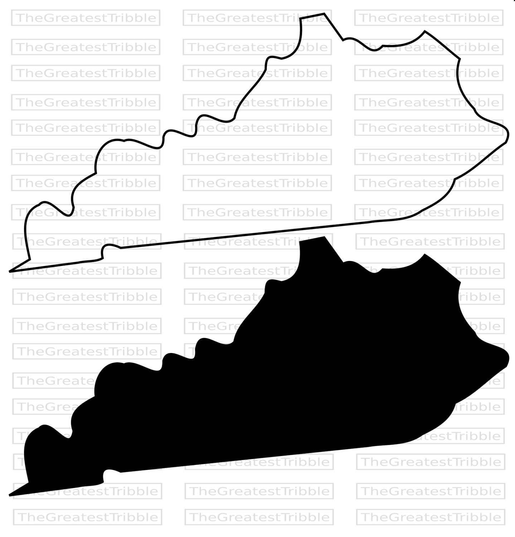 1439x1500 Kentucky State Map Svg Png Jpg Vector Graphic Clip Art Kentucky