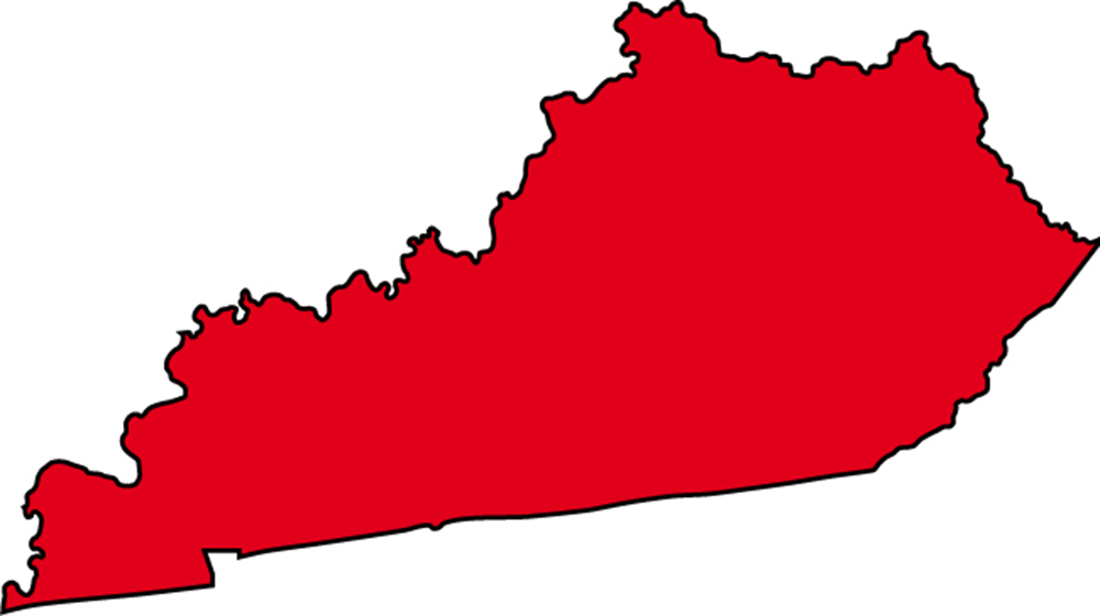 1000x560 Kentucky State Map With Cities