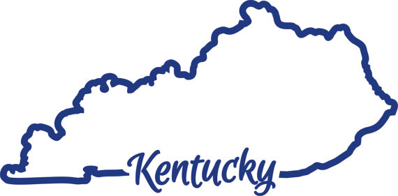 570x281 Ky Kentucky State Outline Svg Cutting File Vector Instant