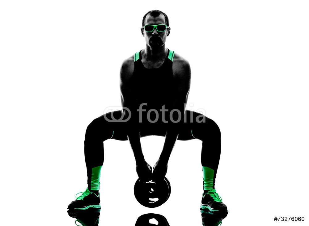 1000x730 Man Crossfit Weight Disk Exercises Fitness Silhouette Wall Sticker