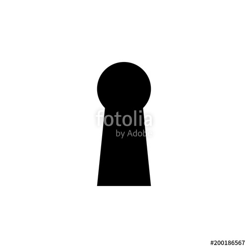 500x500 Keyhole Icon. Element Of Simple Icon For Websites, Web Design