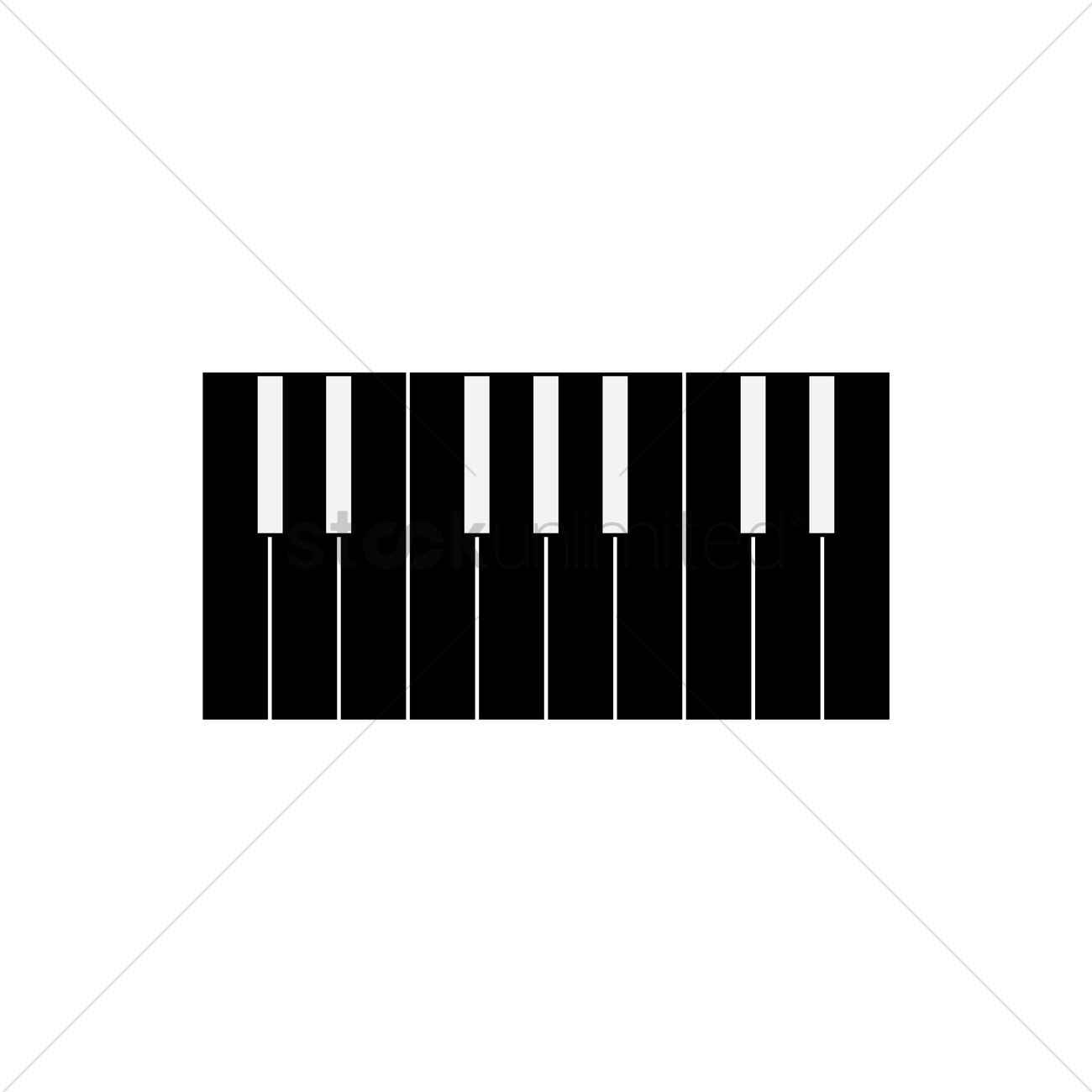 1300x1300 Free Silhouette Of Piano Keys Vector Image