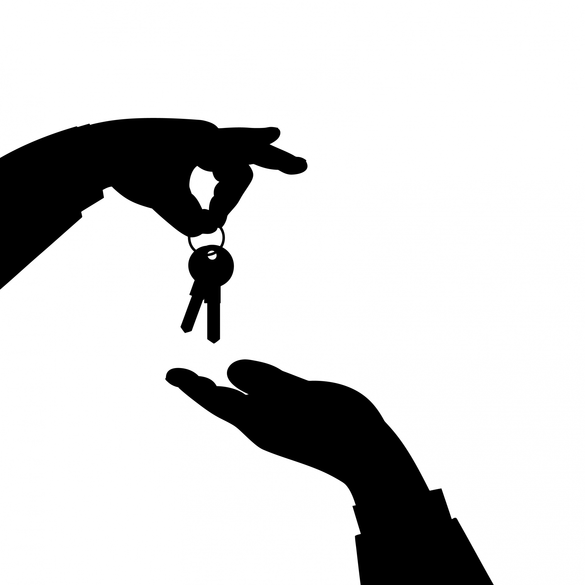 1920x1920 Keys In Hand Silhouette Free Stock Photo