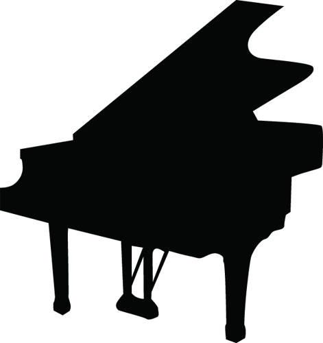471x500 Piano Keys Silhouette