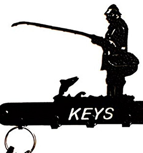 466x498 Silhouette Black Solid Steel 5 Hook Key Holder