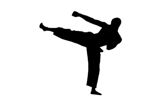600x400 Kick Boxing Silhouette