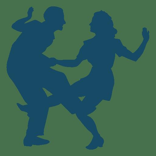 512x512 Lindy Hop Dance Big Kick Silhouette