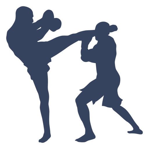 512x512 Silhouette Boxing Kickboxing Fight