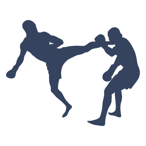 512x512 Boxing Kickboxing Fight Silhouette