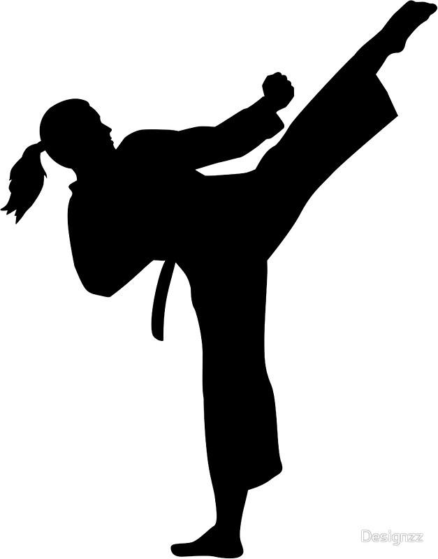 627x800 Karate Girl Kick Silhouette. Free Stock Photos