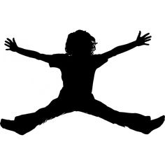 236x236 Kids Silhouettes Jumping Vector Pack Vector Free Download