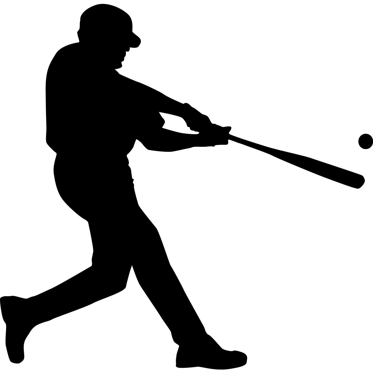 1296x1296 Baseball Player Clipart Silhouette