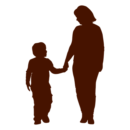 512x512 Mom Holding Kid Family Silhouette