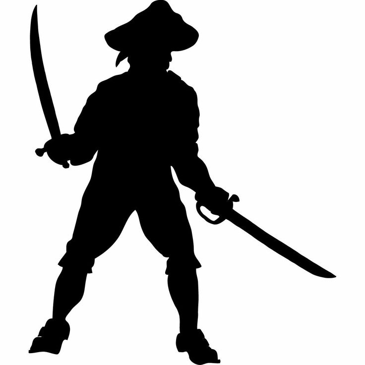 736x736 Pirate Silhouette Cliparts