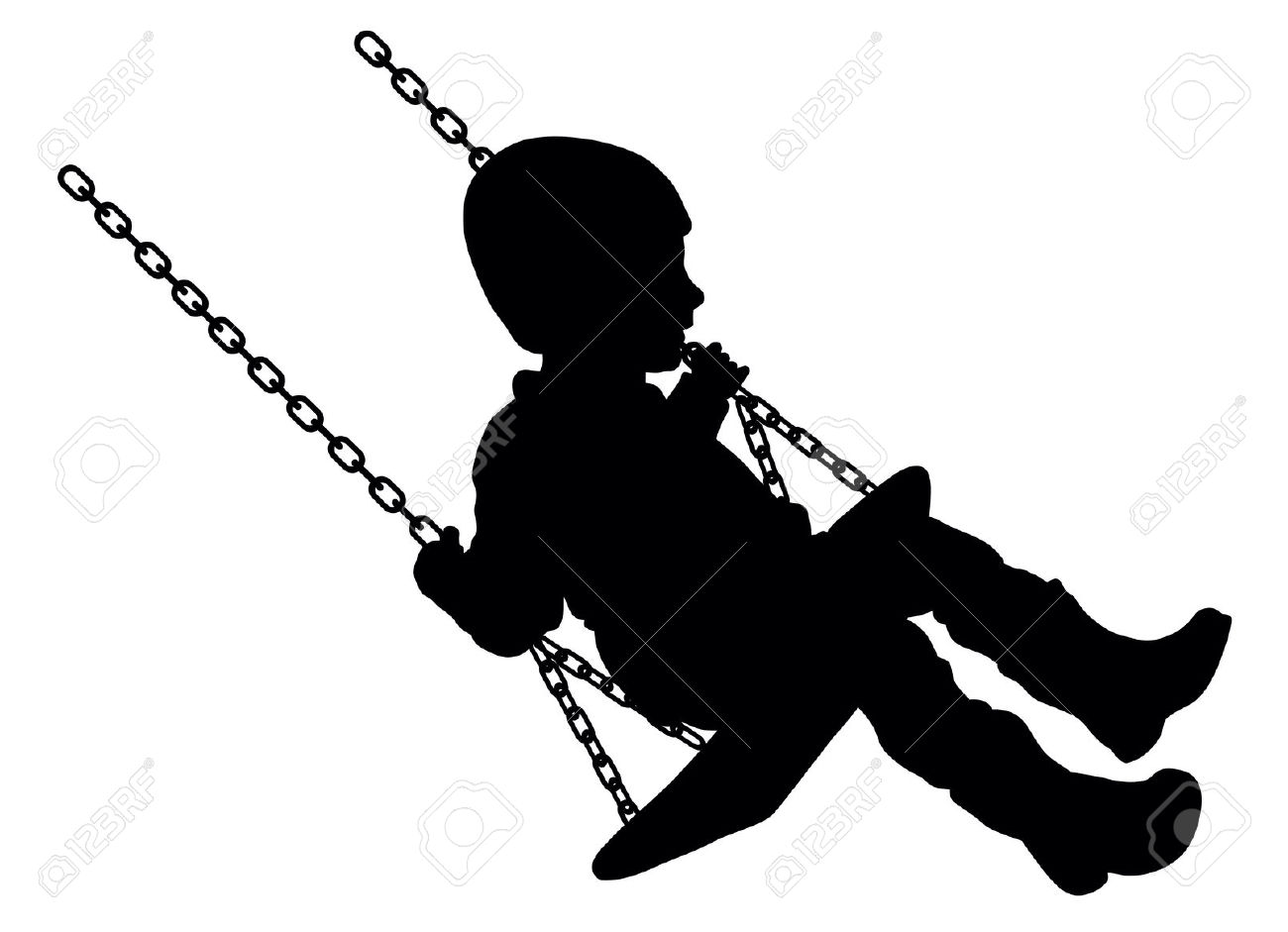 1300x941 And Child Silhouette Clipart On Swings