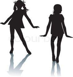 236x248 free printable kids dance silouttes Joy Silhouette Children