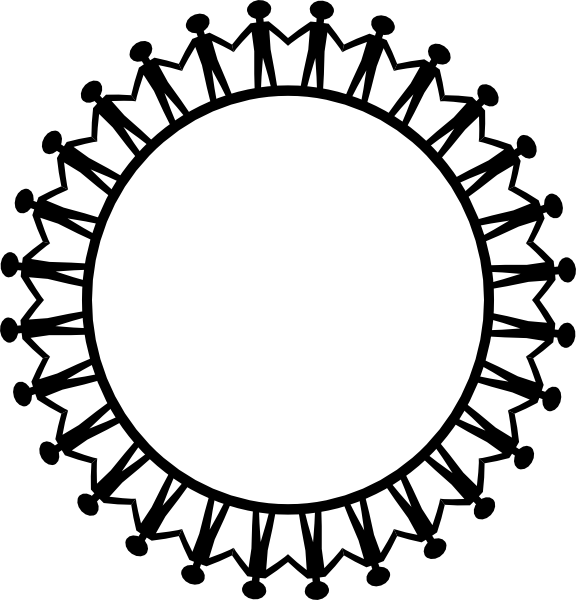 576x600 Circle Holding Hands Clip Art