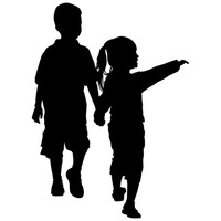 200x200 Kid Kids Child Children Silhouette Silhouettes Winter Season