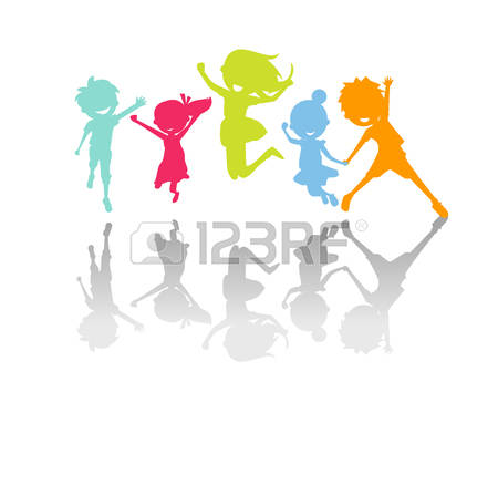 450x438 Children Holding Hands Silhouette Color Clipart Collection