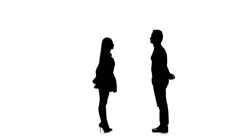 852x480 Silhouette Of Four Standing People (A Family With Childnd