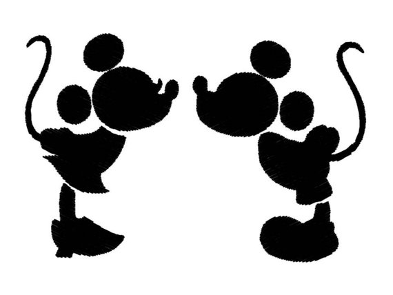 570x428 Silhouette Machine Embroidery Design For Kids, Mickey Mouse