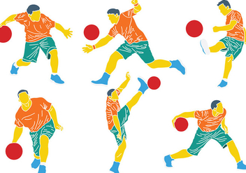 352x247 Free Kickball Silhouettes Vector Free Vector Download 405805