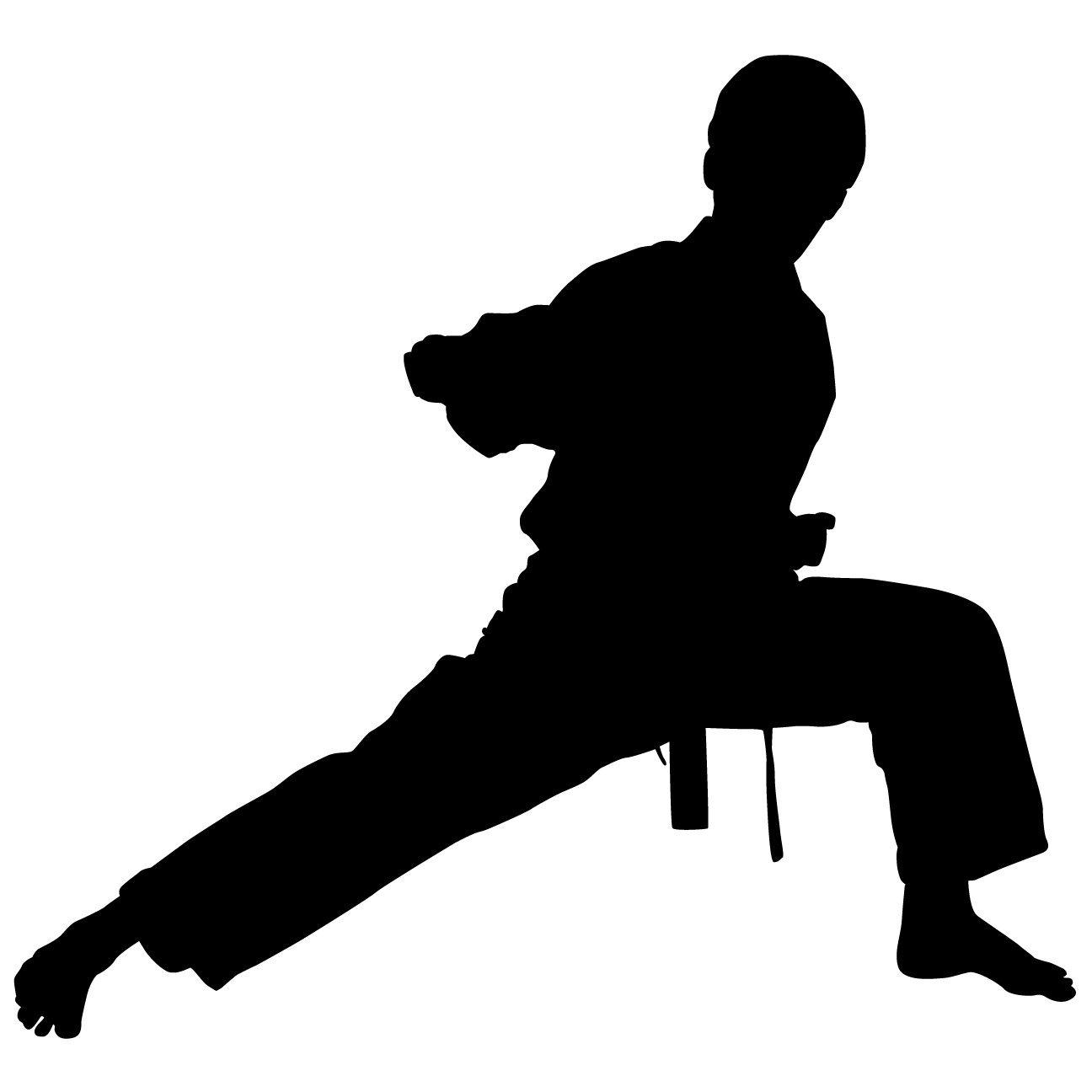 1296x1296 Karate Silhouette Clipart