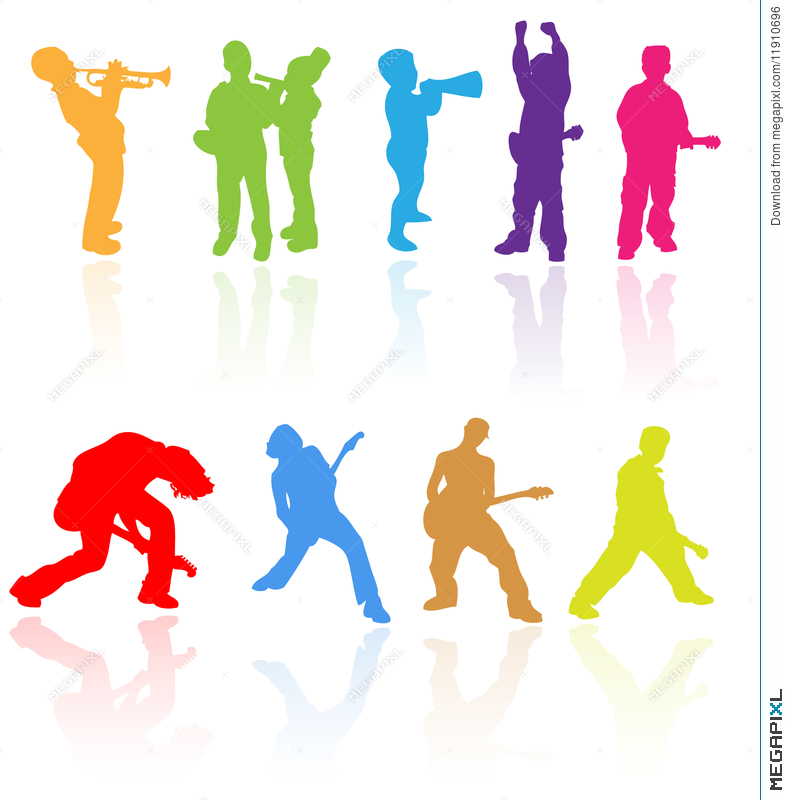 790x800 Kids Children Teens Rock Music Band Silhouette Young Child People