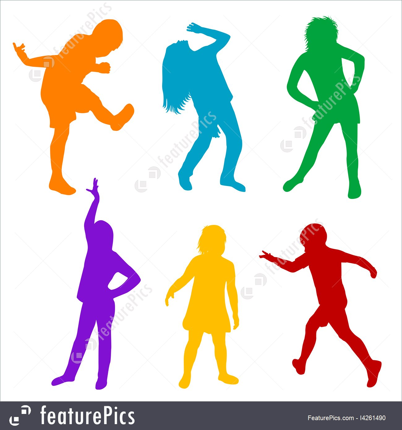 1300x1392 Silhouettes And Outlines Children Silhouettes