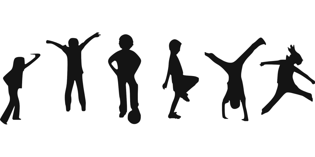 1024x512 Unique Kids Fitness Clipart Silhouette Drawing