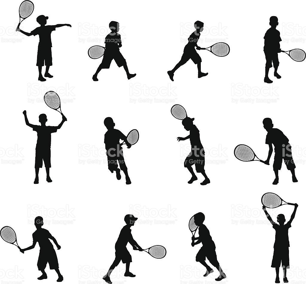 1024x950 tennis silhouette clipart