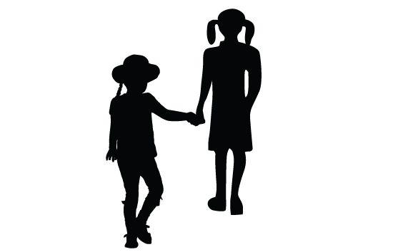 550x354 Free Kids Silhouette Clip Art