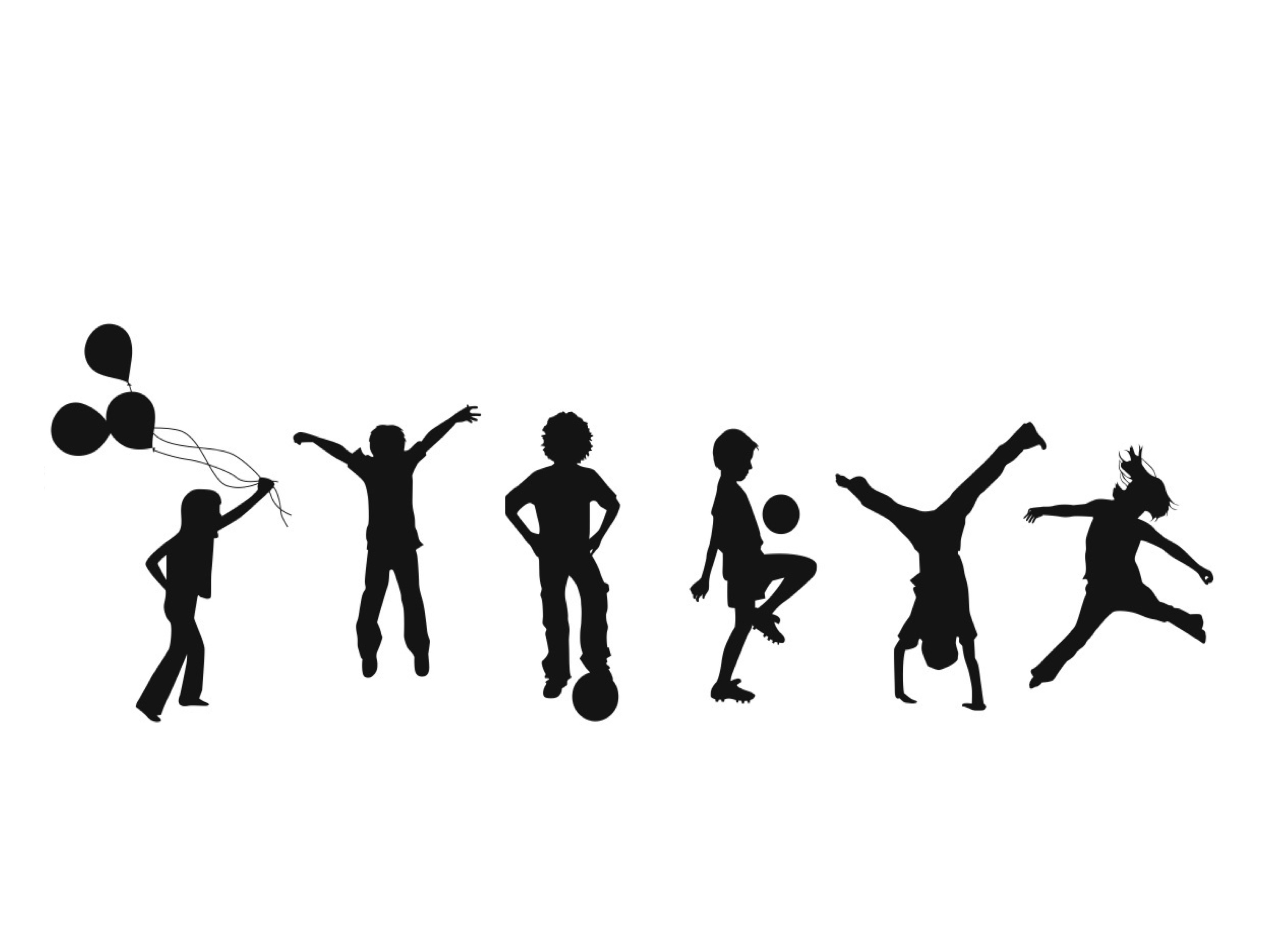 2999x2249 Kids Playing Silhouette Png Kids Silhouette Png Kids Projects