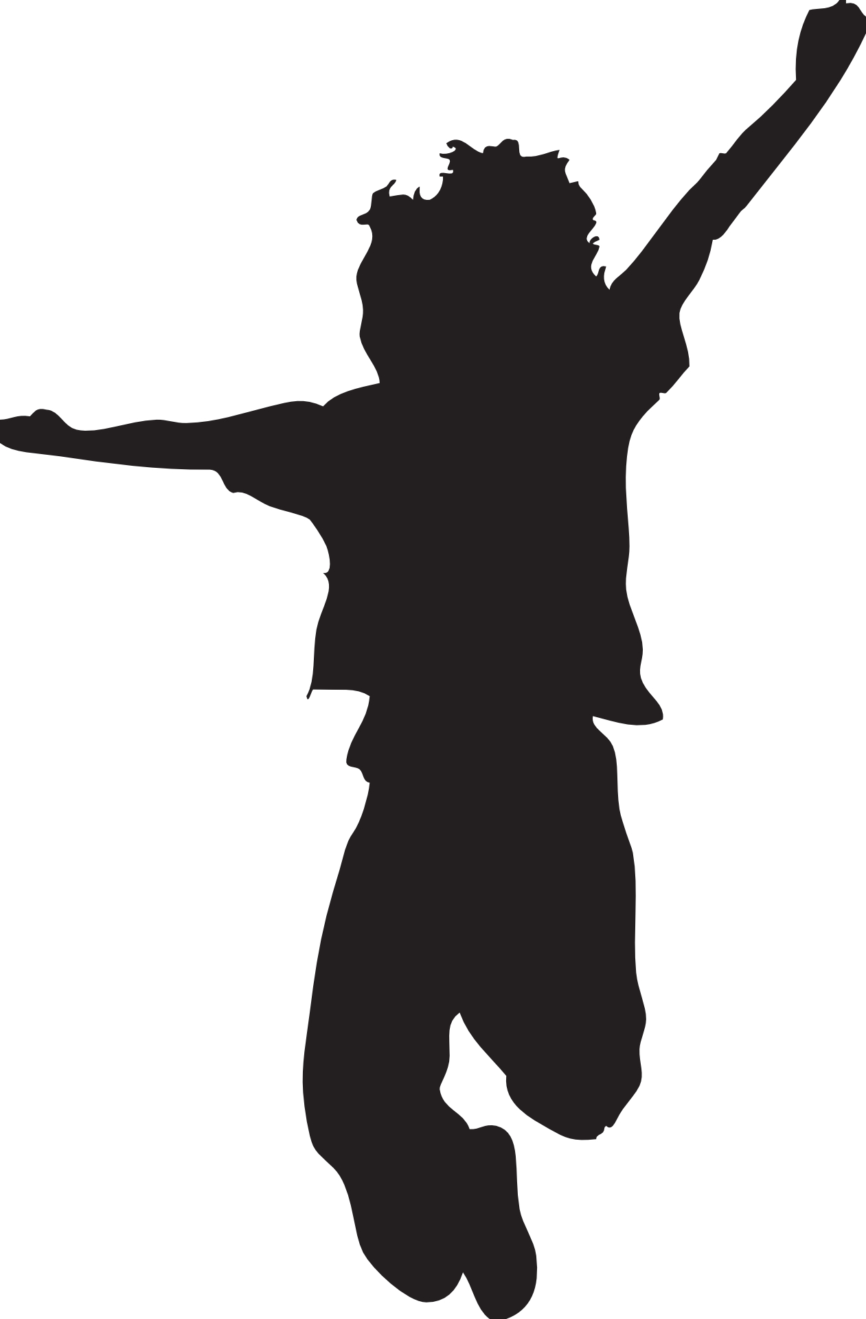 1261x1920 Jumping Kid Silhouette Boy Outline Vector Free Psd,vector,icons