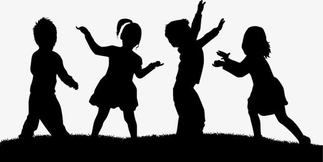650x326 Children's Cartoon Silhouettes Children, Cartoon, Child, Sketch