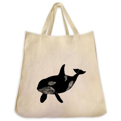 400x400 Killer Whale Silhouette Design Extra Large Eco Friendly Canvas