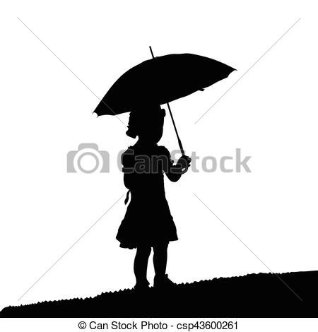 450x470 Silhouette, Umbrela, Natur, Abbildung, Schwarzes Kind, Clipart
