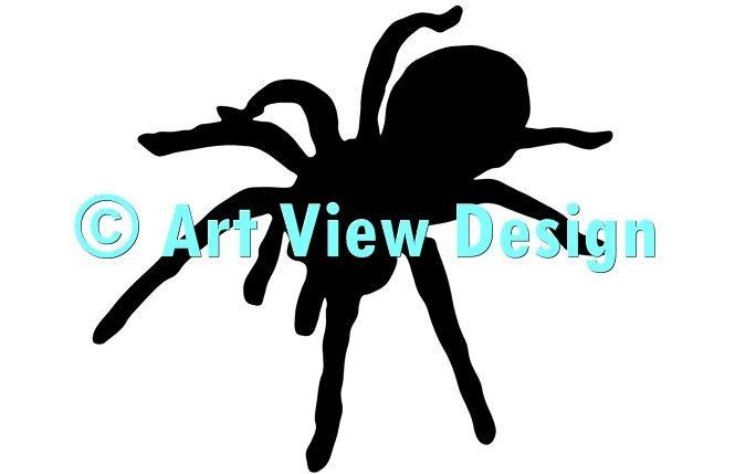665x429 A Silhouette Made From Our Tarantula Silhouette Design Original
