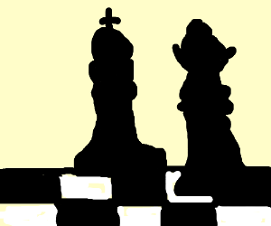 300x250 Chess Queen And King