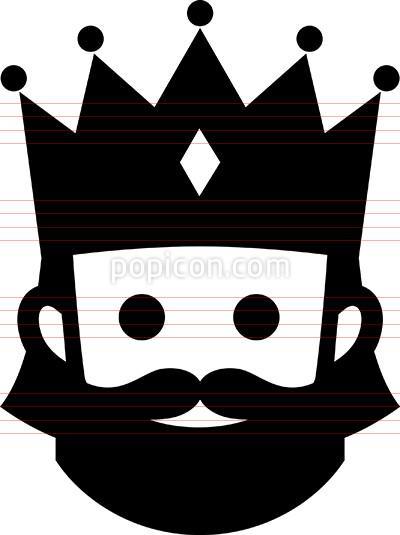 400x535 King Wearing Crown Icon