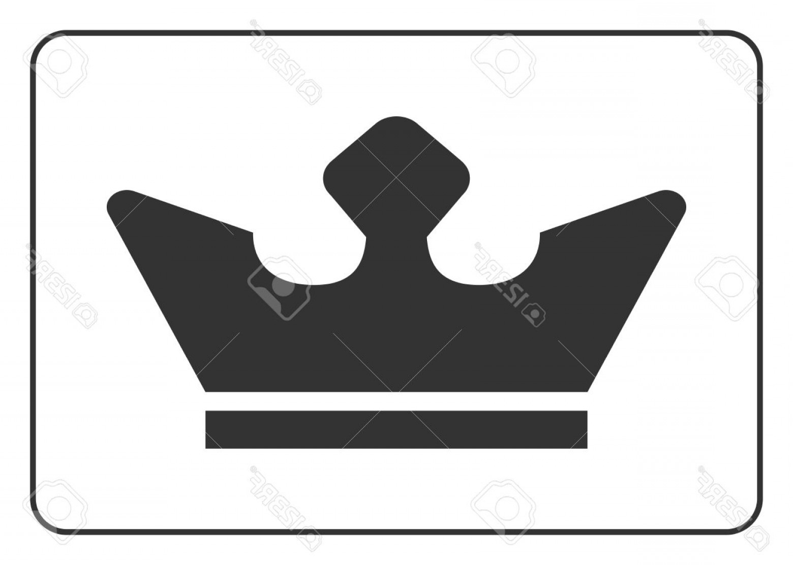 1560x1113 Photostock Vector Crown Icon Black Shape Sign Isolated On White