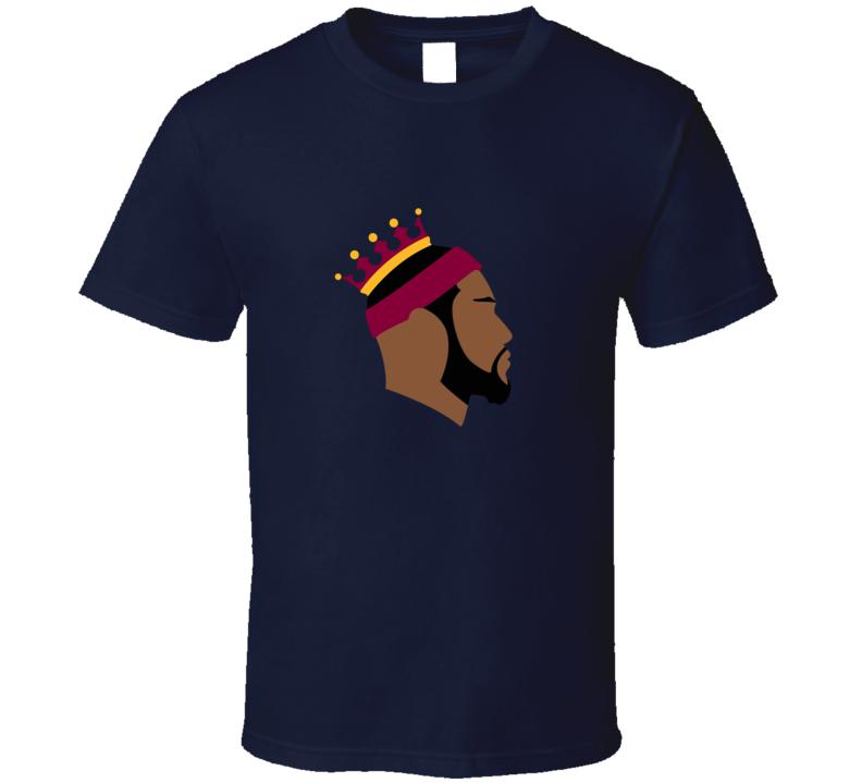 792x719 James King Cleveland Silhouette Basketball T Shirt