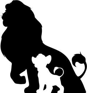 295x317 Simba And Mufasa Premium Decal 5 { White