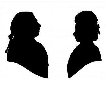 355x283 Buy Photographic Print Of Silhouette Portraits Of King George Iii