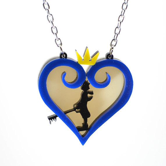 570x570 Kingdom Hearts Sora Silhouette Necklace