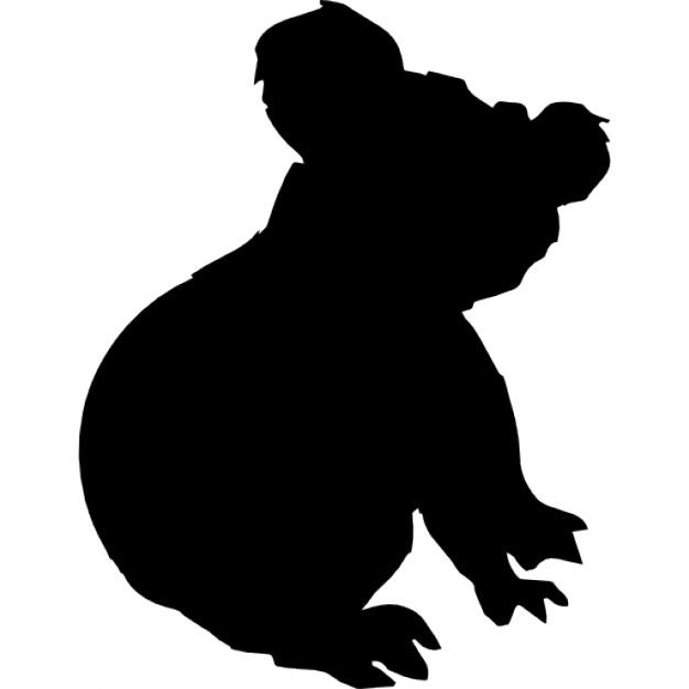 626x626 Koala Silhouette Icons Free Download